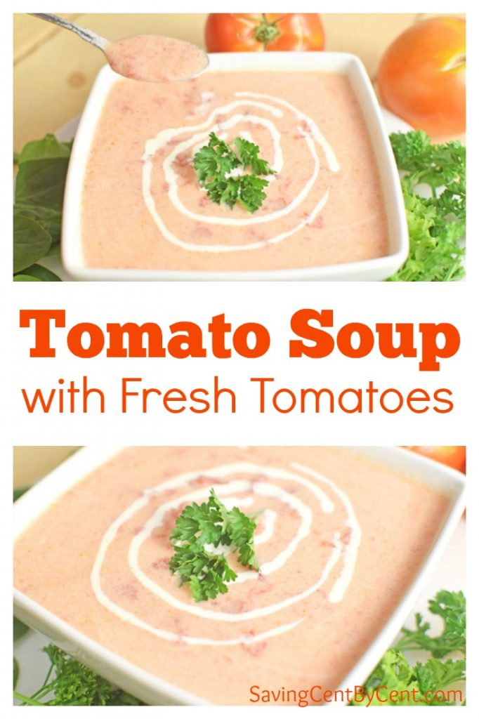Tomato Soup with Fresh Tomatoes