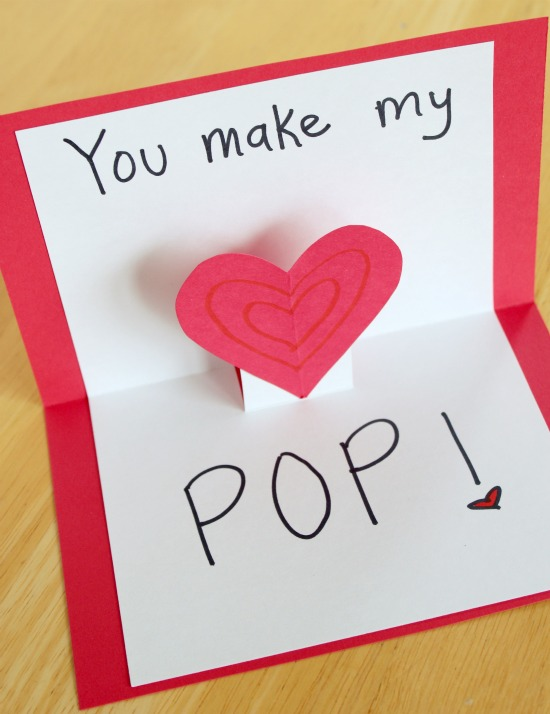 valentines - heart pop up cards
