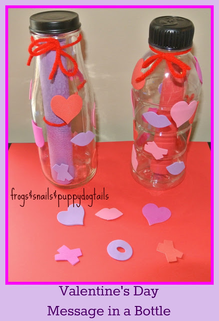 valentines - message in a bottle