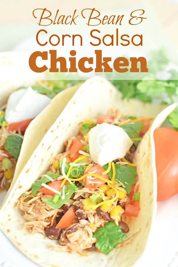 Easy Black Bean & Corn Salsa Chicken
