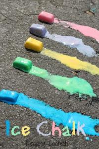 Activities for kids - ice chalk