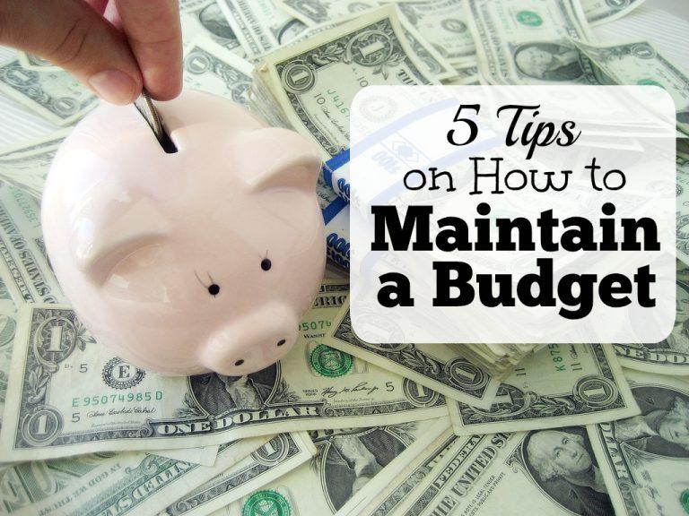 Maintain a Budget