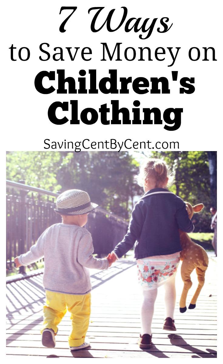 7 Ways to Save Money on Children's Clothing