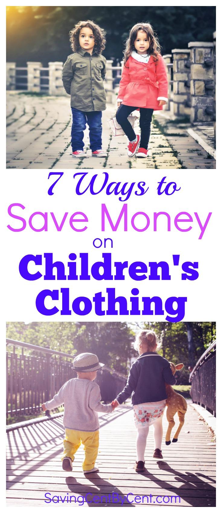 Save Money on Children's Clothing