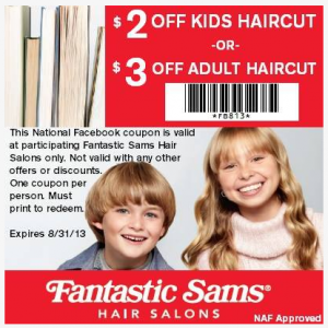 Fantastic Sam's haircut coupon