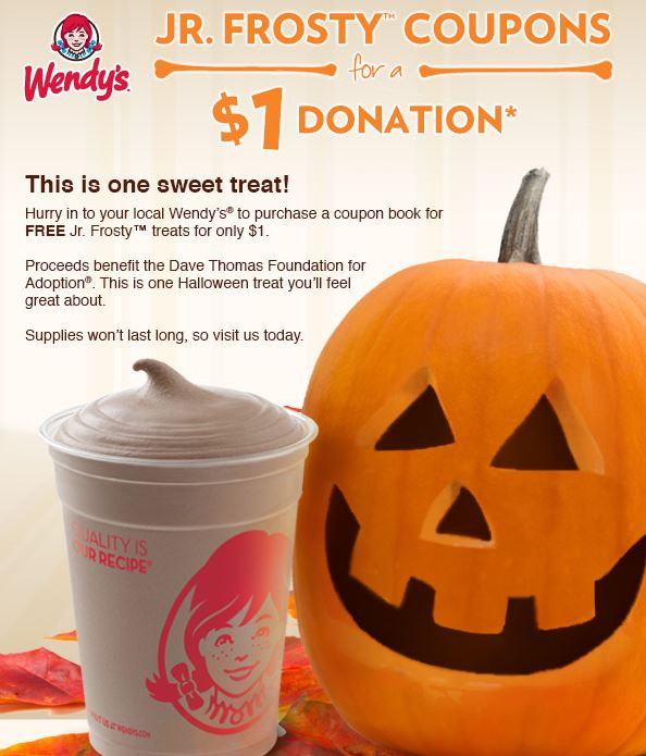 wendy's halloween coupon booklet