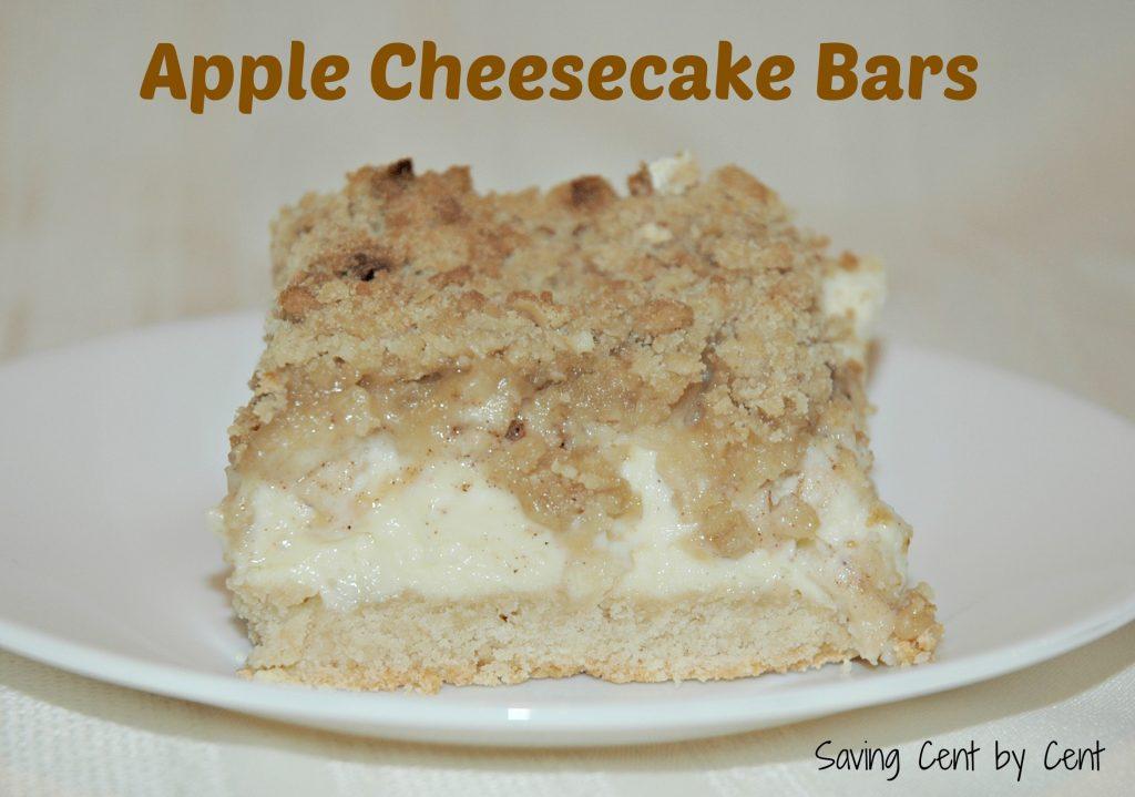 Apple Cheesecake Bars