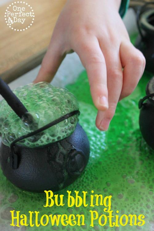 halloween activities for kids - bubbling halloween potion