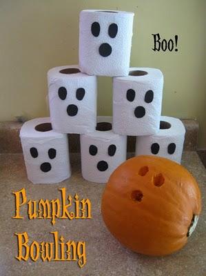 halloween activities for kids - pumpkin bowling