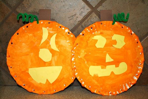 halloween activities for kids - pumpkin faces