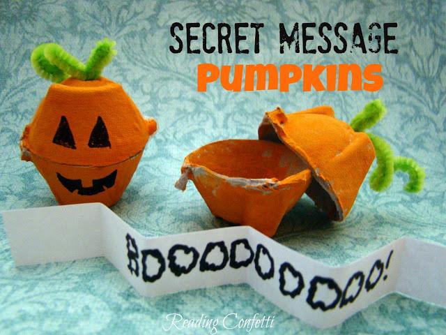 halloween activities for kids - secret messages