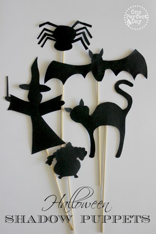 halloween activities for kids - shadow play