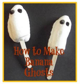 halloween treats - banana ghosts