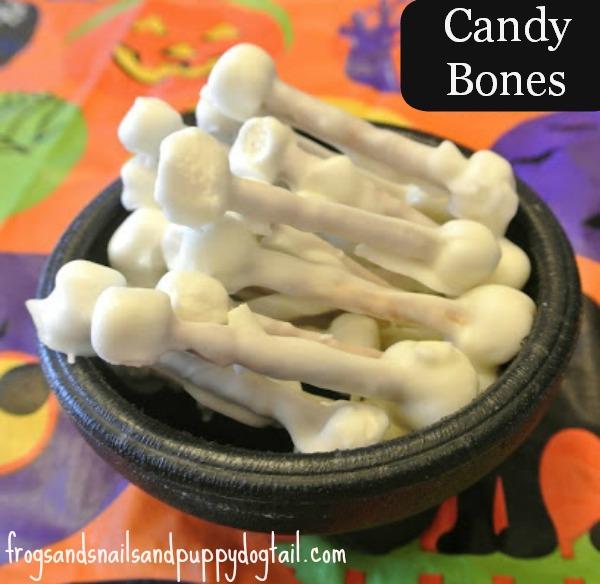 halloween treats - candy bones