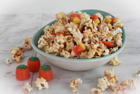 halloween treats - caramel popcorn