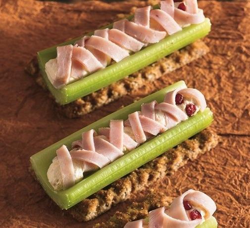 halloween treats - celery mummy