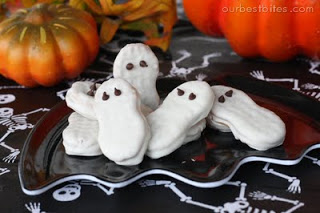 halloween treats - nutter butter ghosts