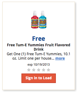 kroger free tume yummies fruit drink