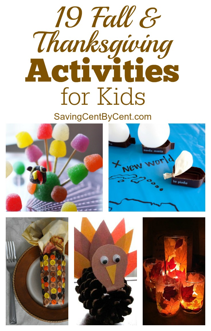 19 Fall and Thanksgiving Activities for Kids