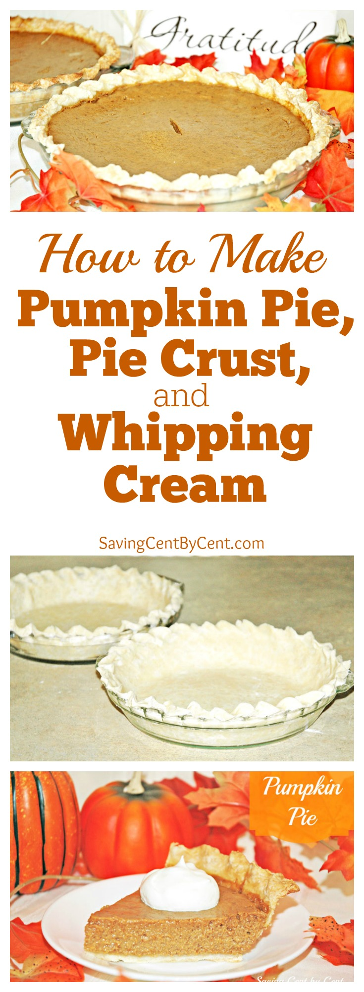 How to Make Pumpkin Pie Pie Crust and Whipping Cream Recipes