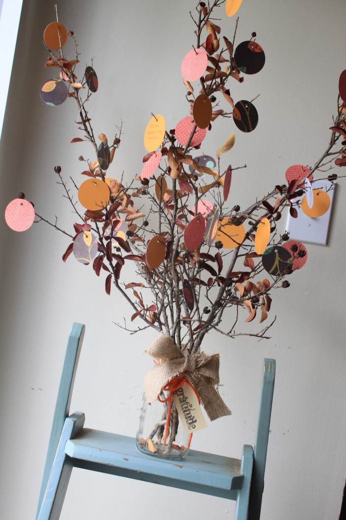 fall activities - grateful tree