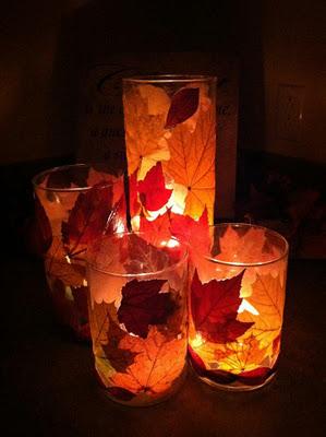 fall activities - leaf lantern