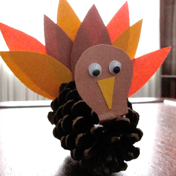 fall activities - pine cone turkey