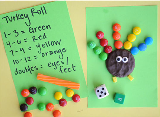 fall activities - turkey roll game