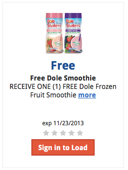 kroger free dole smoothis