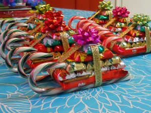 frugal christmas - candy sleighs