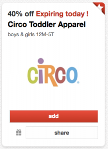 target circo toddler clothing