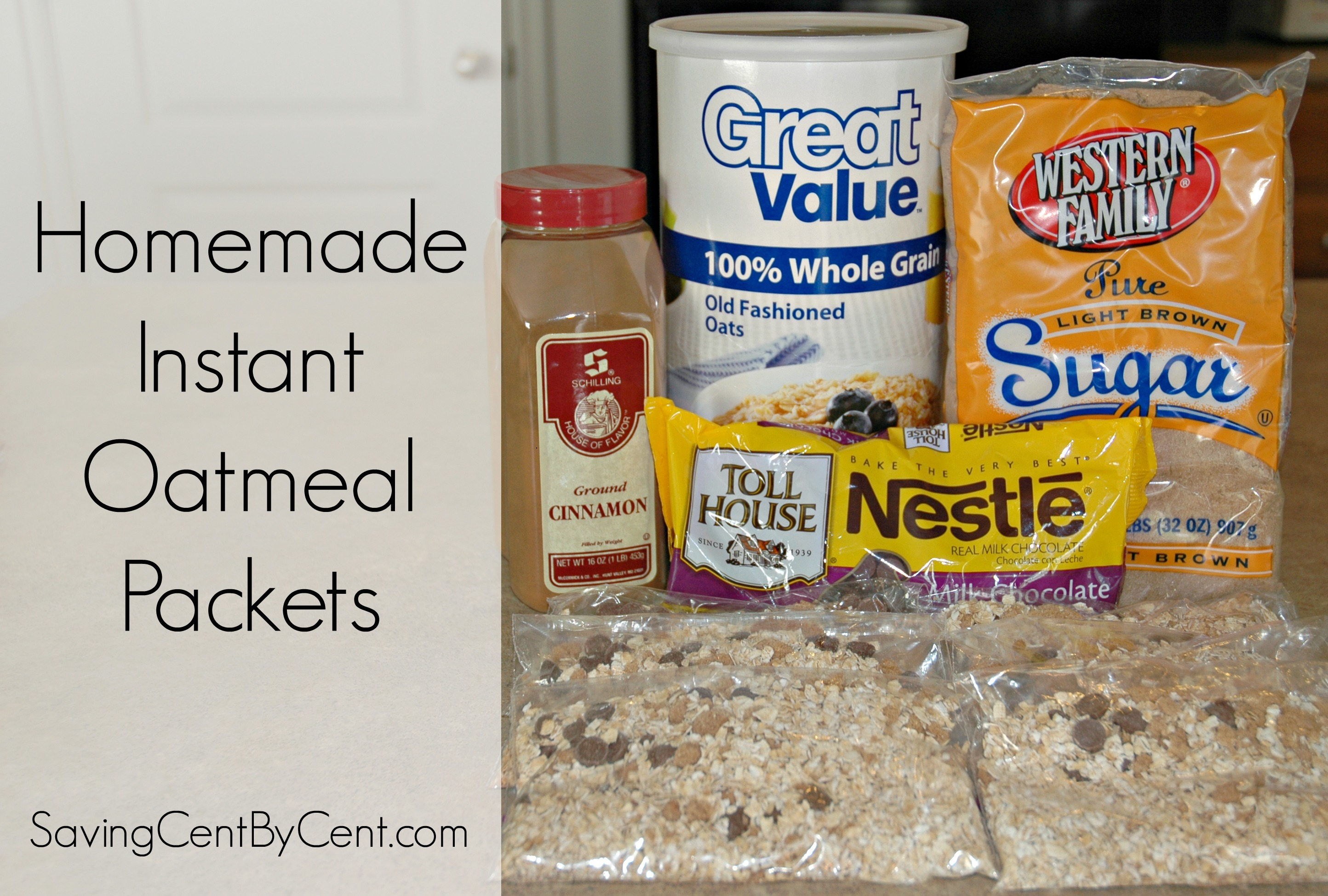 Homemade Instant Oatmeal Packets - Saving Cent by Cent