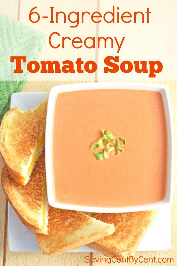 6-Ingredient Creamy Tomato Soup