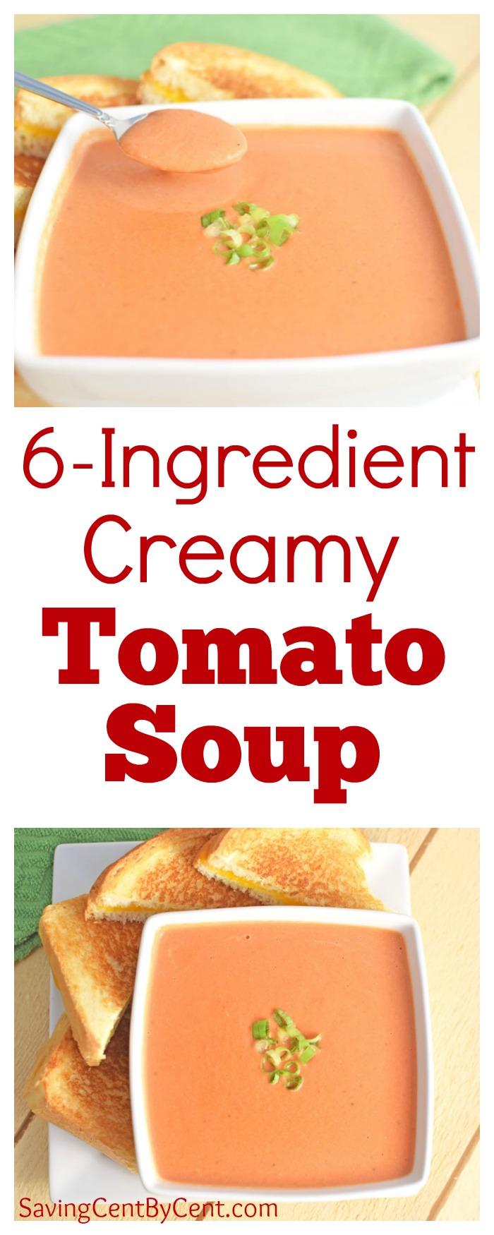 6 Ingredient Creamy Tomato Soup