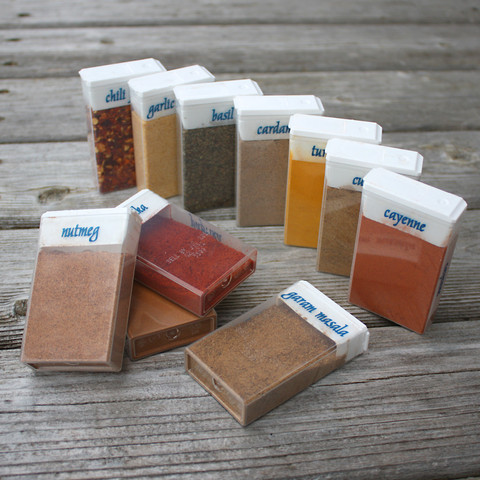 camping - tic tac spice containers
