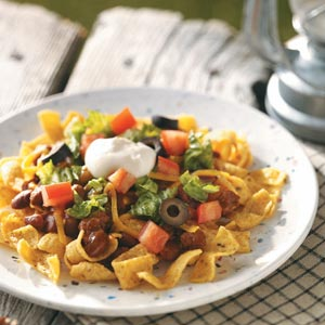 camping food - haystacks