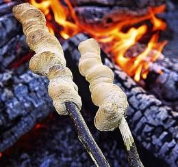 camping food - hobo breadsticks