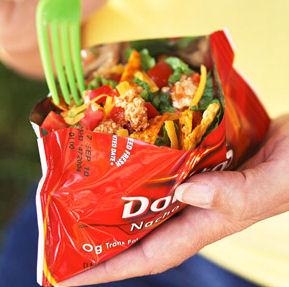 camping food - tacos in a bag