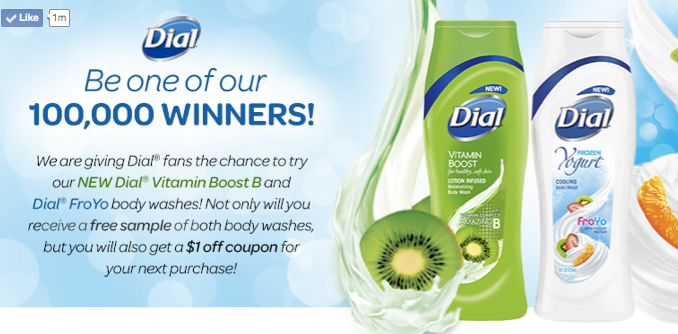 free dial body wash
