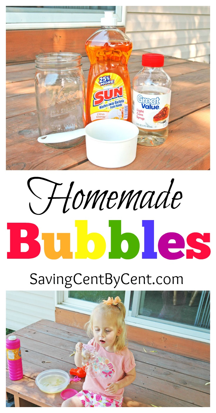 homemade bubbles summer activities for kids