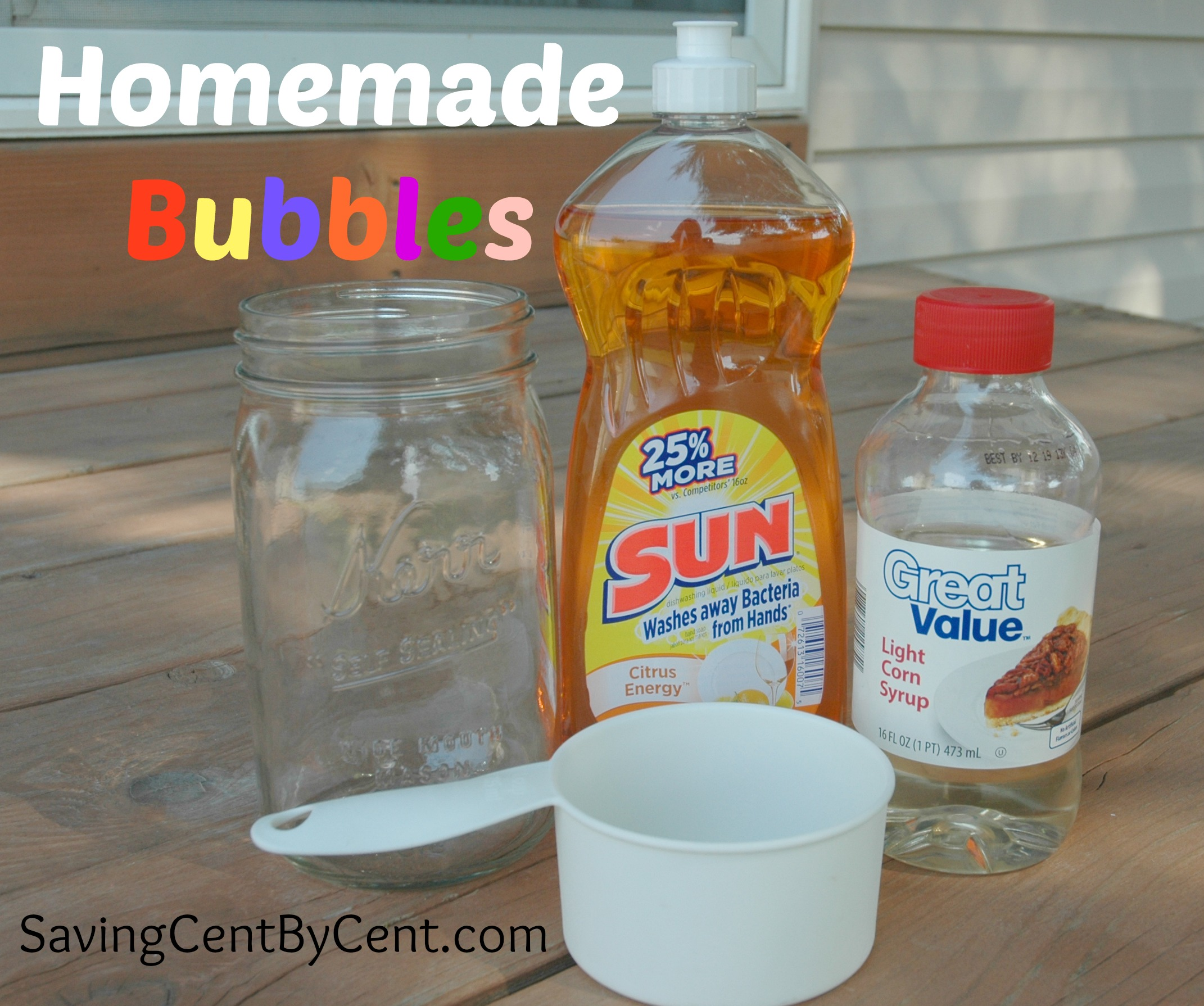 Homemade bubbles recipe saving cent by cent for How to make bubbles liquid at home