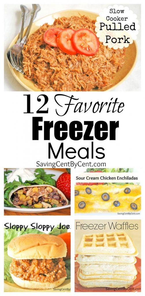 12 Favorite Freezer Meals