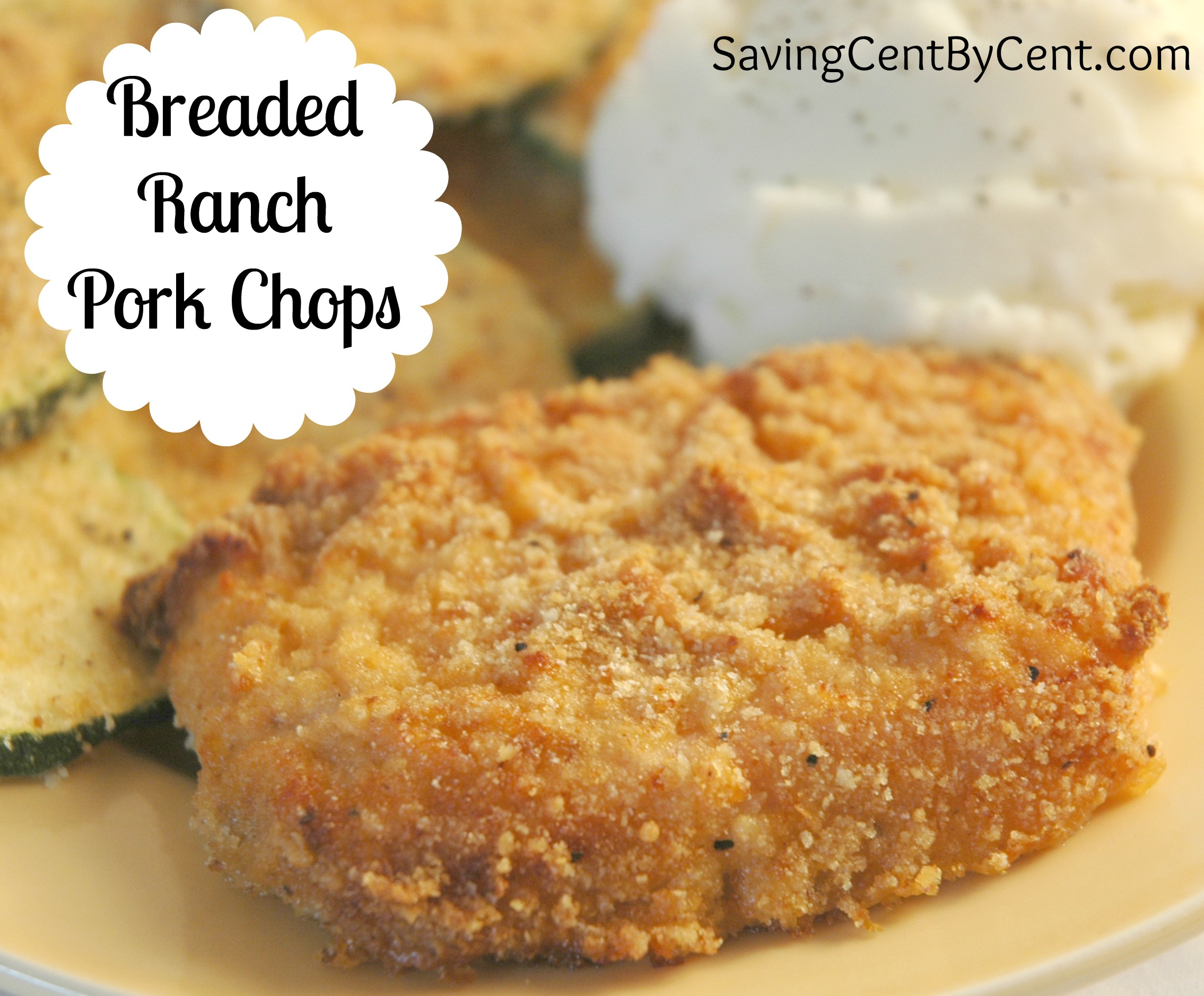 These Ranch Pork Chops only took me a few minutes to throw in the oven ...