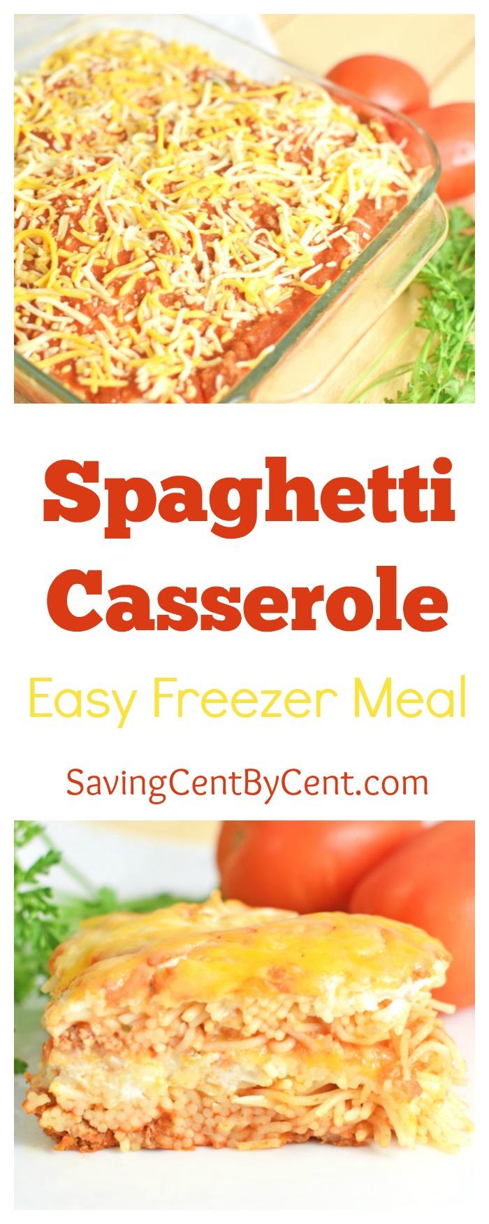 And Easy Freezer Meal Spaghetti Casserole