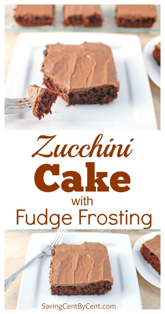 Zucchini Cake with Fudge Frosting