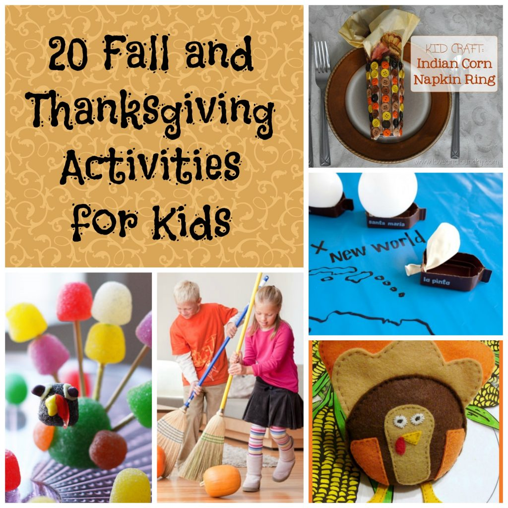 20 fall and thanksgiving activities for kids