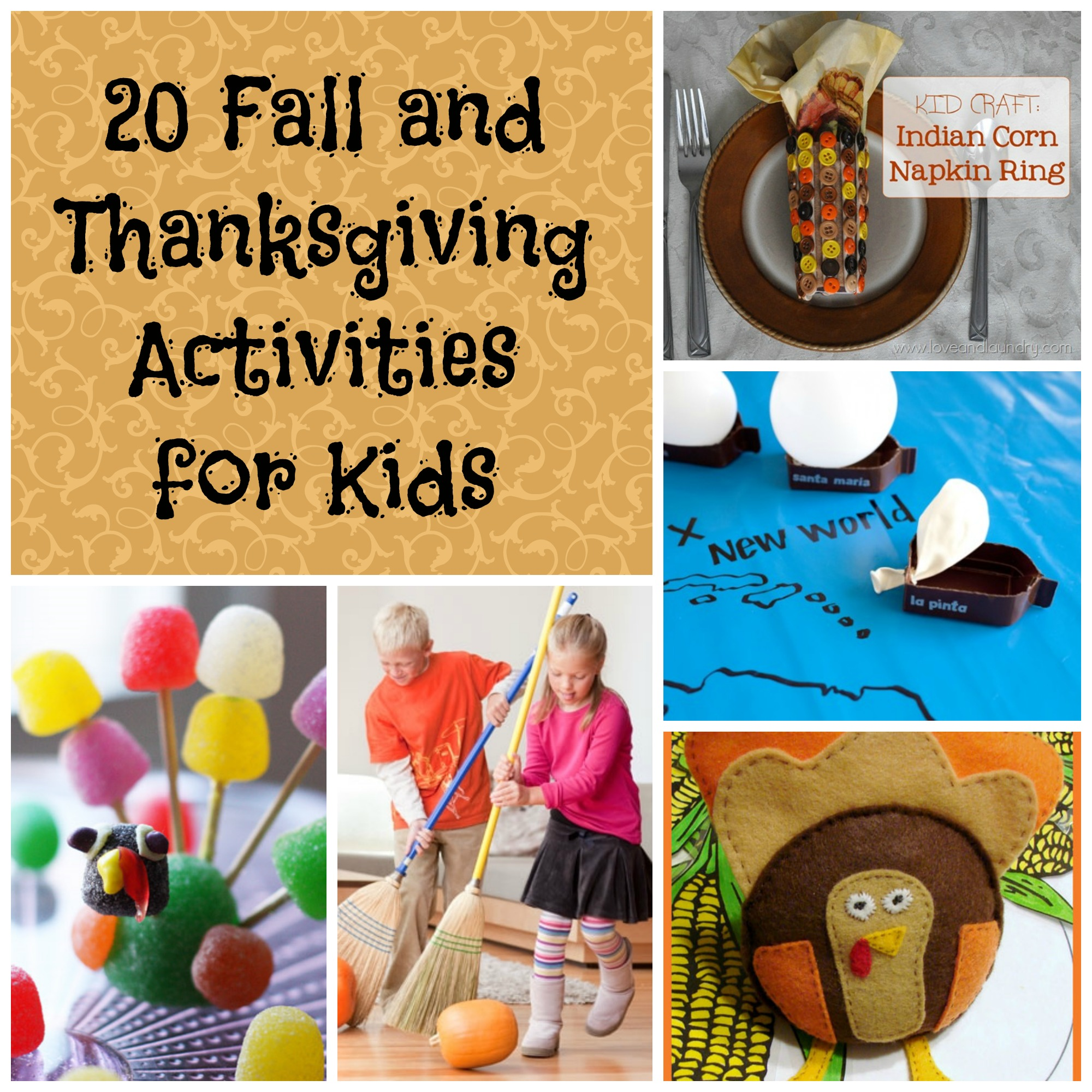 20 Fall and Thanksgiving Activities for Kids - Saving Cent by Cent