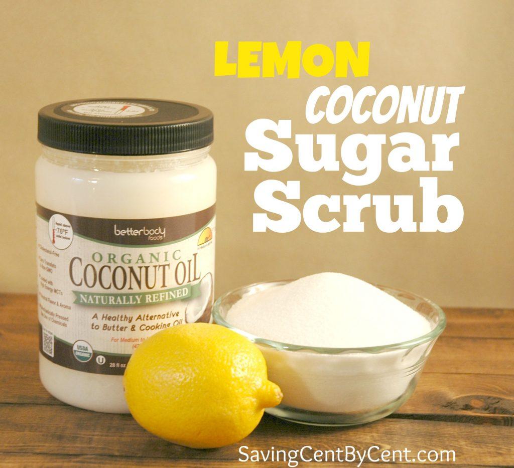 Lemon Coconut Homemade Sugar Scrub