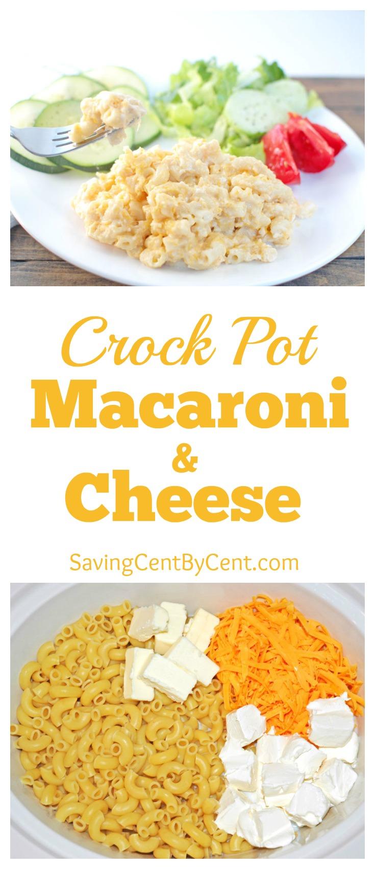 Crock Pot Macaroni & Cheese