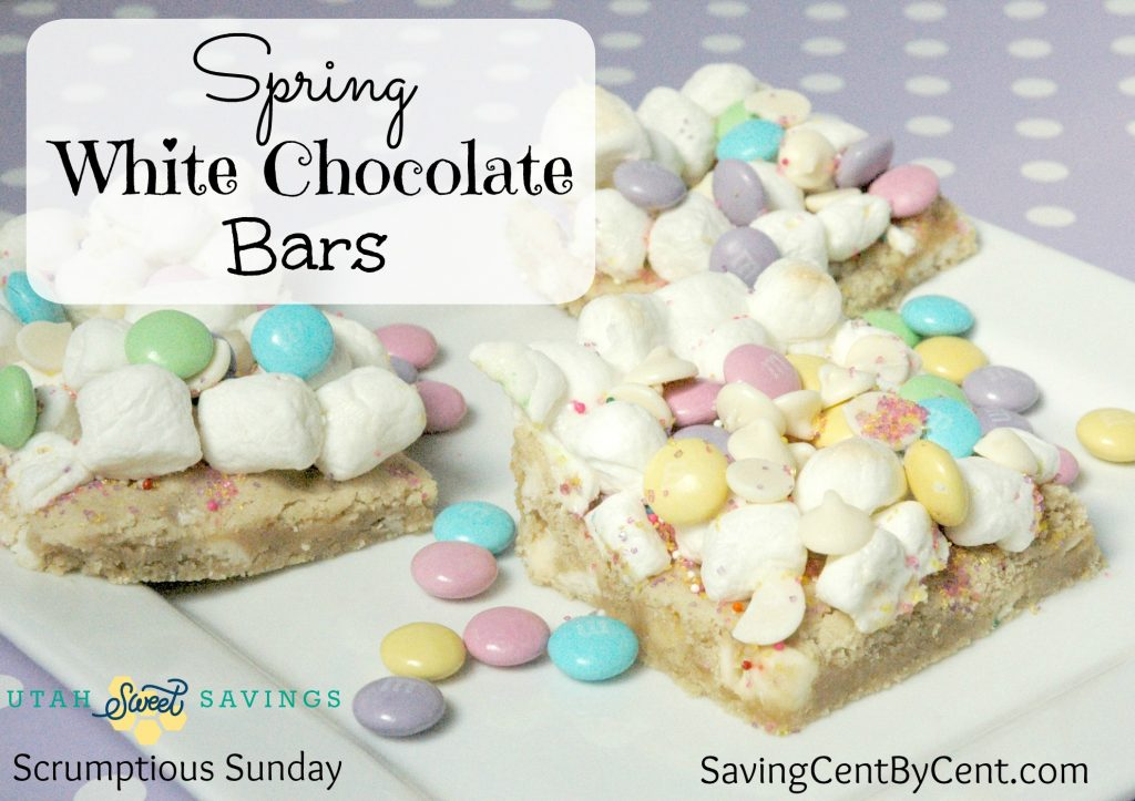 Spring White Chocolate Bars with Logo
